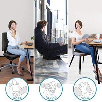 bonmedico Orthopädisches Hämorrhoiden-Sitzkissen mit innovativer Gel-Schicht, Sitzring wirkt schmerzlindernd, auch zur Steißbein-Entlastung für Auto, Sofa, Büro & Rollstuhl, Normal - 4