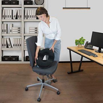 bonmedico Orthopädisches Hämorrhoiden-Sitzkissen mit innovativer Gel-Schicht, Sitzring wirkt schmerzlindernd, auch zur Steißbein-Entlastung für Auto, Sofa, Büro & Rollstuhl, Normal - 6