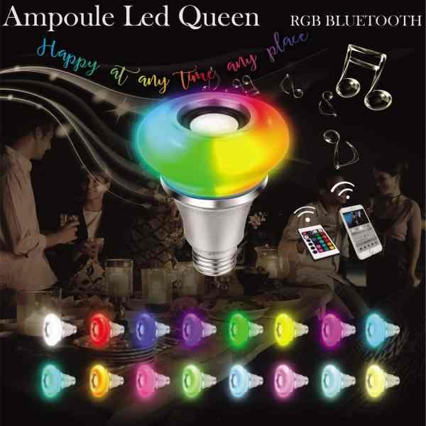Ampoule Led E27 Queen RGB Bluetooth