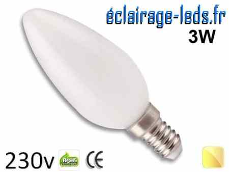 Ampoule Led E14 liquide 3w blanc chaud IP65 230v