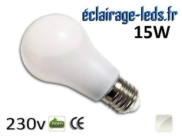 Ampoule Led E27 liquide 15w blanc Naturel IP65 230v
