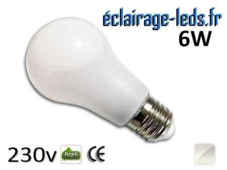 Ampoule led E27 liquide 6w SMD blanc naturel 4500K 230v AC