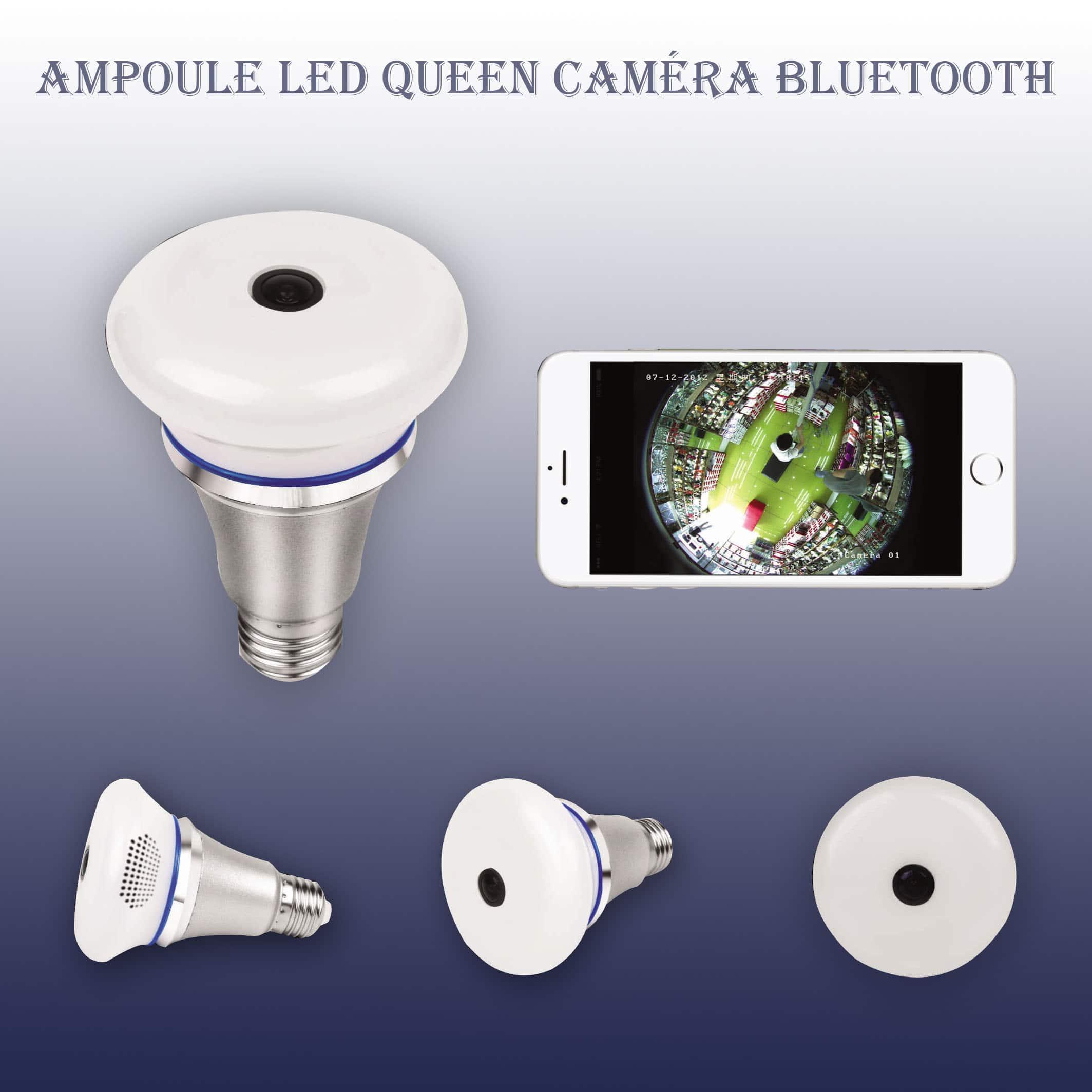 Ampoule Led E27 Queen Caméra de surveillance