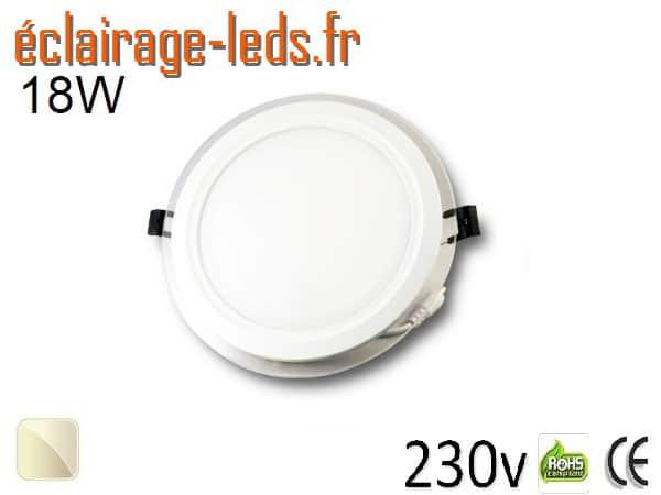 Spot LED Slim 18w blanc perçage 160mm 230v