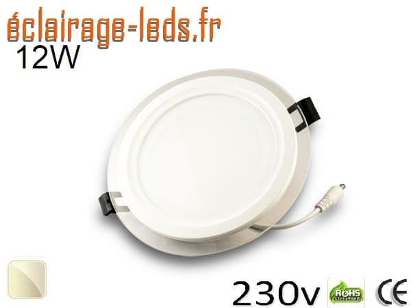 Spot LED Slim 12w blanc perçage 120mm 230v