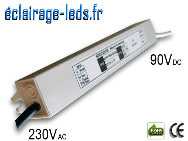 Transformateur Led 90v DC