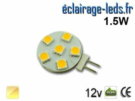 Ampoule led G4 6 led SMD 5050 blanc chaud 12v