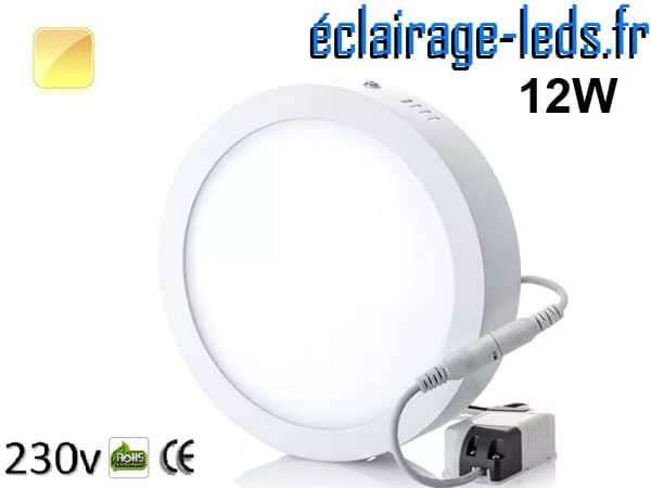 Spot LED 12w blanc chaud design déporté 230v