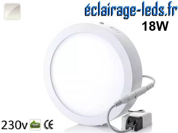 Spot LED 18w blanc naturel design déporté 230v