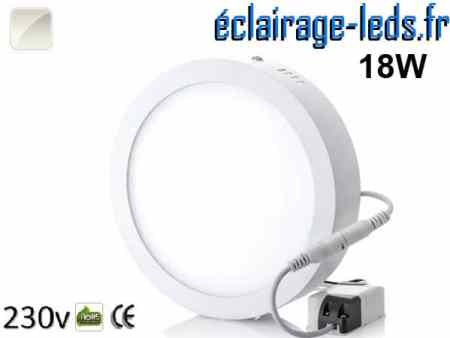 Spot LED 18w blanc naturel design déporté 230v