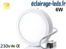 Spot LED 6w blanc chaud 230v