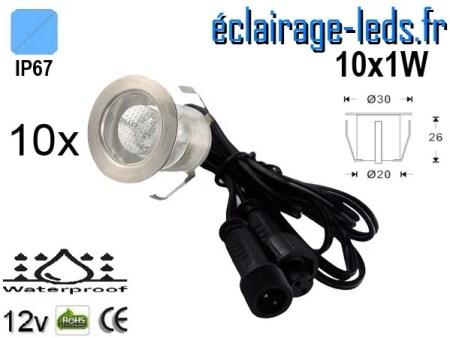 Kit 10 spots LED encastrables