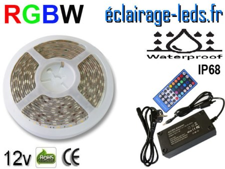 Kit bandeau à LED RGB-White IP68 smd5050 12v