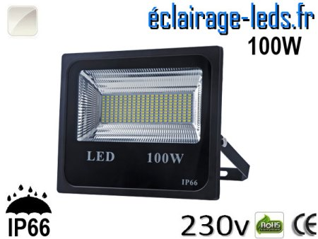 Projecteur LED extérieur 100w IP66 Blanc naturel 230V
