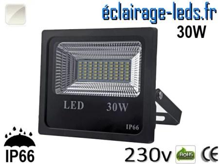 Projecteur LED extérieur 30w IP66 Blanc 230V
