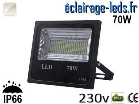 Projecteur LED extérieur 70w IP66 Blanc naturel 230V