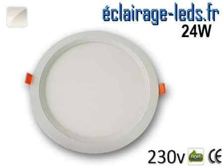 New Spot LED Ultra Slim 24W blanc naturel 230V