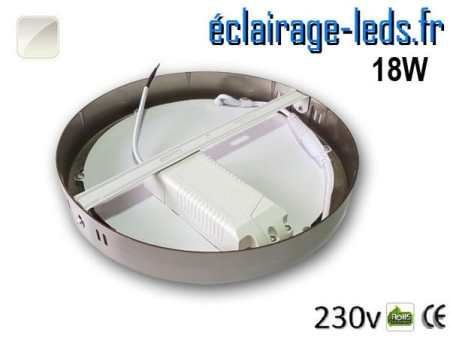 Spot LED Chrome 18W Blanc naturel design deporte