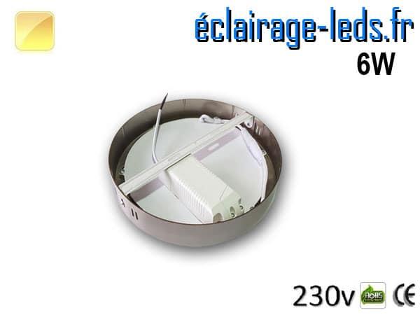 Spot LED Chrome 6W Blanc chaud design deporte