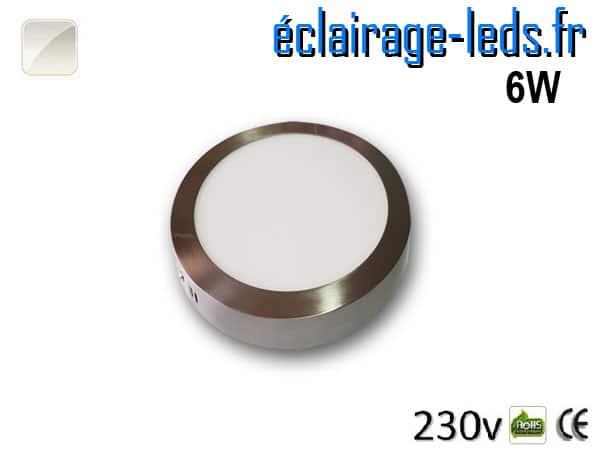 Spot LED Chrome 6W Blanc naturel design deporte 230V