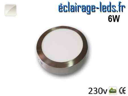 Spot LED Chrome 6W Blanc naturel design deporte 230V