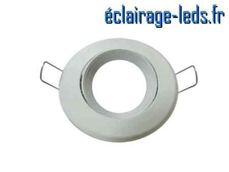 Support LED encastrable blanc orientable perçage 70mm