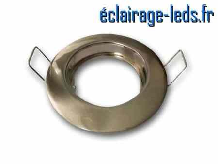 Support LED encastrable fixe chrome
