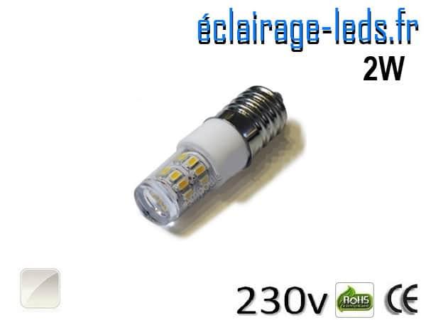 Ampoule LED E14 2W SMD 3014 Blanc naturel 230V