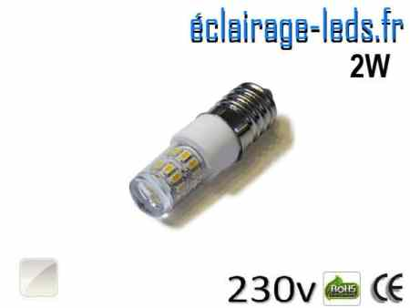 Ampoule LED E14 2W SMD 3014 Blanc naturel 230V
