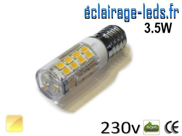 Ampoule LED E14 3.5W SMD 2835 Blanc chaud 230V