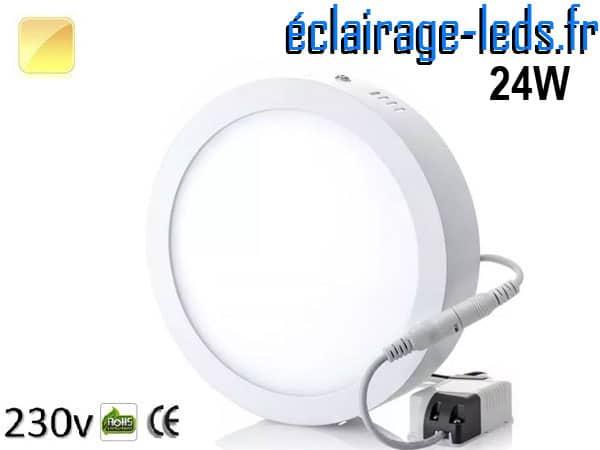 Spot LED 24w blanc chaud design déporté 230v