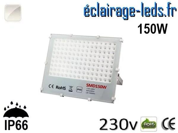 Projecteur LED exterieur Ultra plat 150W IP66 blanc naturel 230v