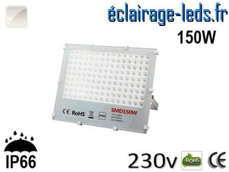 Projecteur LED exterieur Ultra plat 150W IP66 blanc naturel 230v