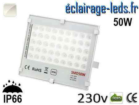 Projecteur LED exterieur Ultra plat 50W IP66 blanc naturel 230v