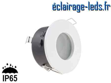 Spot LED encastrable blanc milieu humide IP65