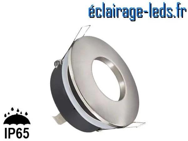 Spot LED encastrable rond alu milieu humide IP65 perçage 70mm