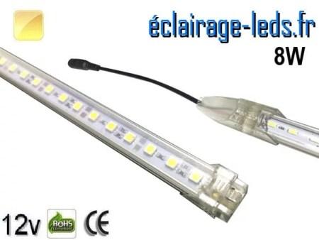 Bandeau LED de départ 50cm rigide 8W Blanc chaud 12V