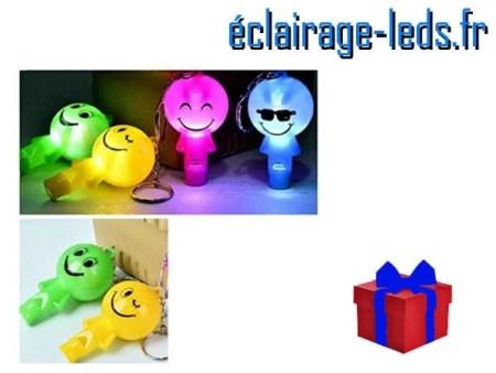 Smiley bleu lumineuse à LED