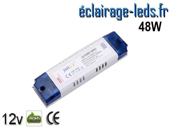 Transformateur LED pour intégration 12V DC 48W