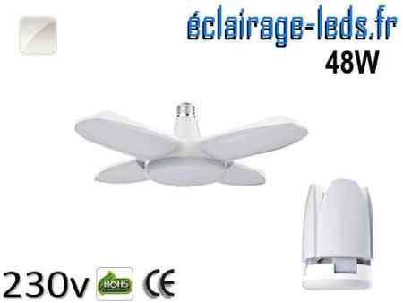 Ampoule led E27 plafonnier 48w COB blanc 6500K 230v