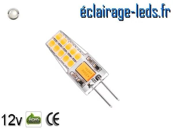 Ampoule led G4 3w SMD 2835 blanc 6000K 10~24v DC ref A193-2