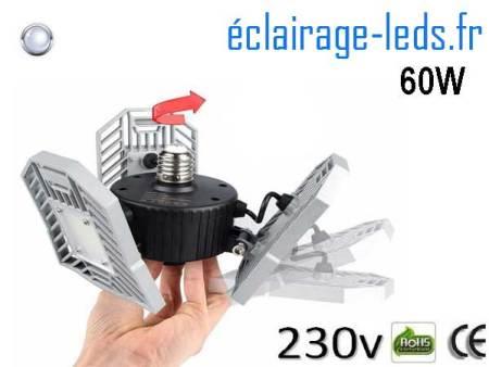 Ampoule led E27 plafonnier 60w SMD blanc 6000K 230v AC 1