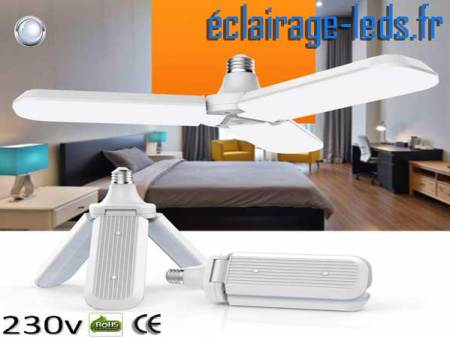 Ampoule led E27 plafonnier 45w COB blanc 6500K 230v AC