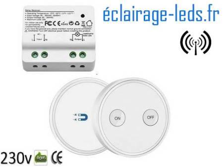 Interrupteur sans fil RF + 1 émetteur 200m 2500w