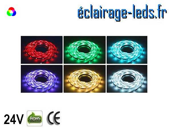 Kit bandeau LED 15m RGB SMS5050 24V DC 1