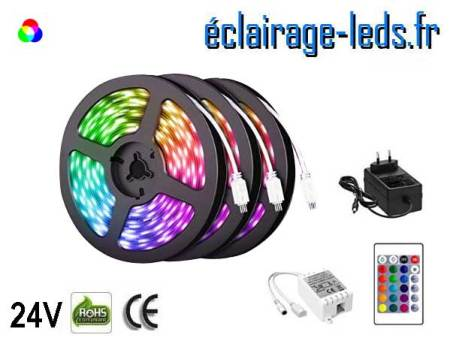 Kit bandeau LED 15m RGB SMS5050 24V DC