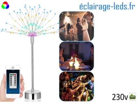 3 arbres à LED 48cm multi-couleur-108-led-contrôle par smartphone USB