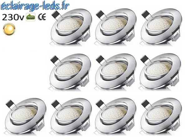 Lot De 10 Spots Led Encastrable Orientable 5w Ultraslim Eclairage Leds Fr