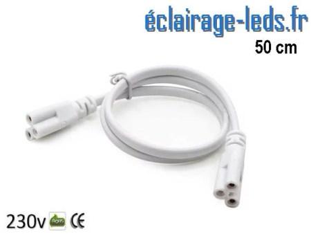 Câble raccordement 50cm Tube LED T8 et T5