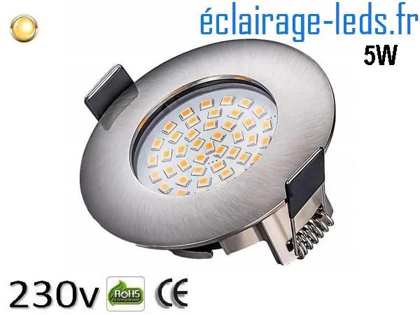 Spot led Encastrable Fixe 5W Ultraslim Blanc Chaud